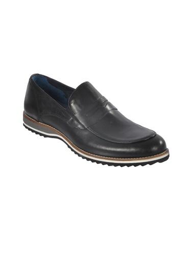 Luciano Bellini Hakiki Deri E403 Siyah Erkek Günlük Ayakkabı Siyah